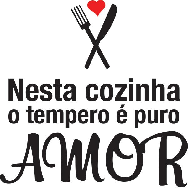 Adesivo de Parede Puro Amor na Cozinha