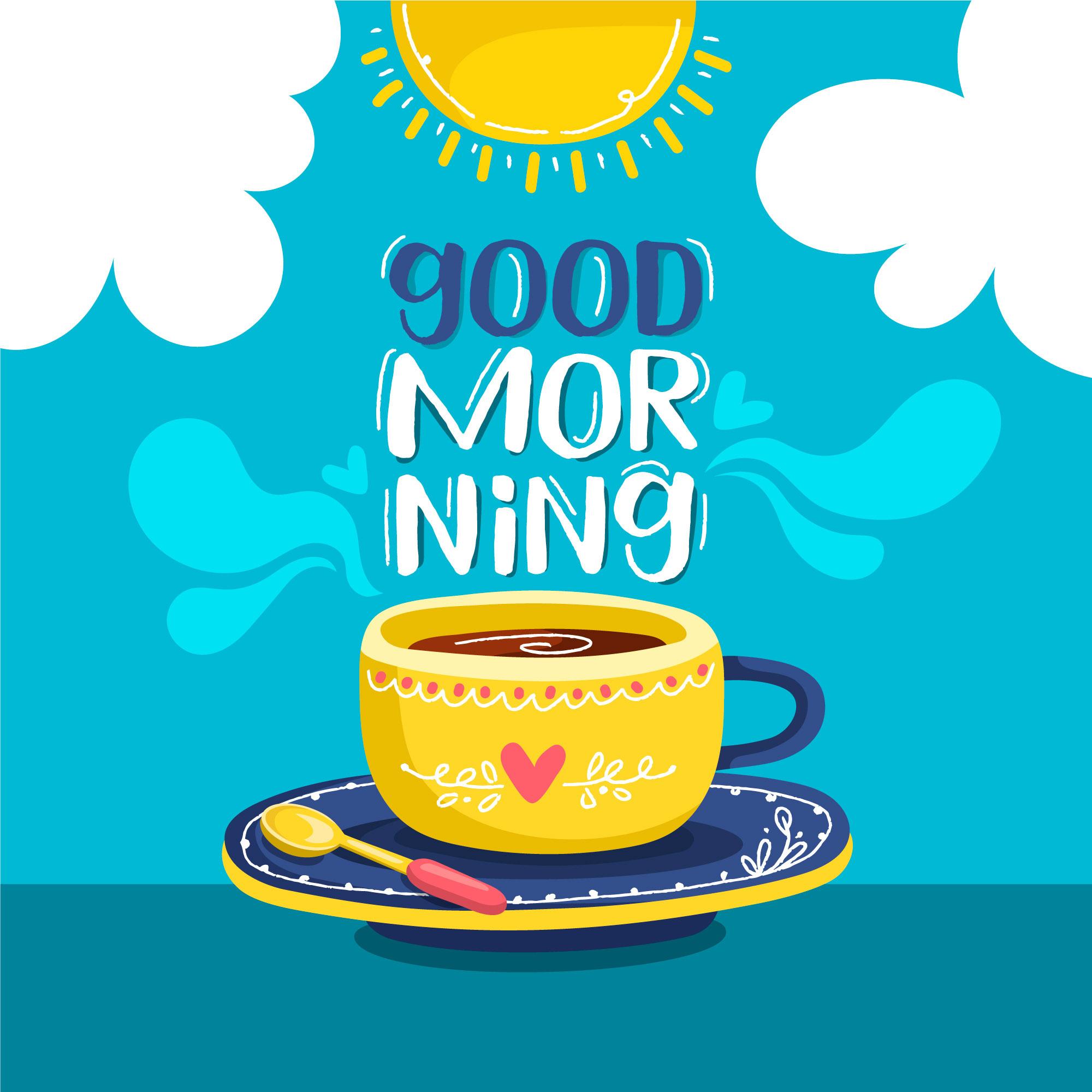 Adesivo de Parede Quadrinho Good Morning