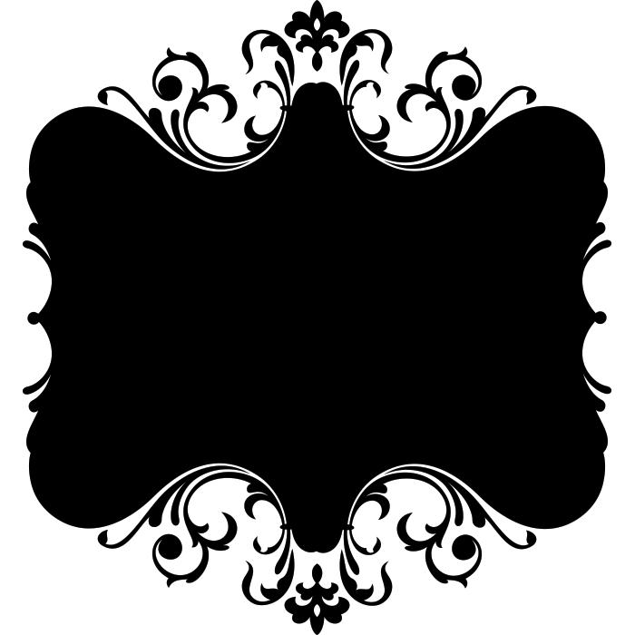 Adesivo de Parede Quadro Para Giz Ornamental