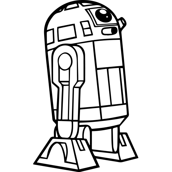 Adesivo de Parede R2D2 Star Wars
