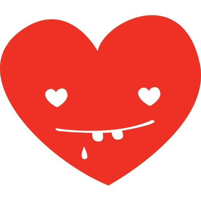 Adesivo de Parede Red Heart