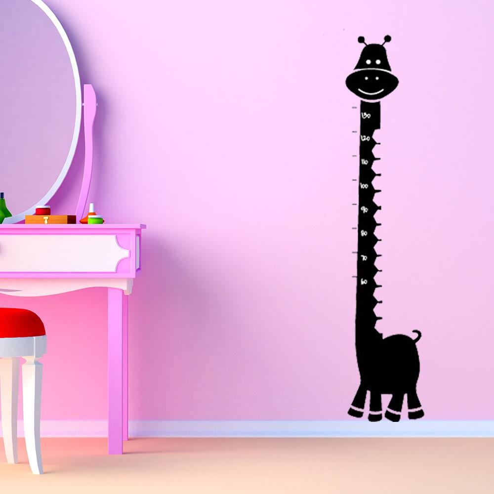 Adesivo de Parede Régua Girafa Infantil