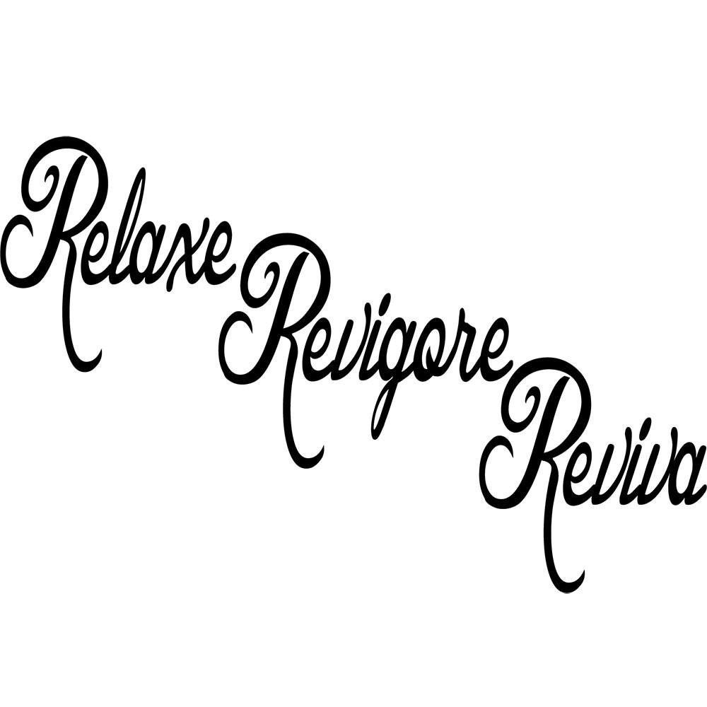 Adesivo de Parede Relaxe , Revigore e Reviva