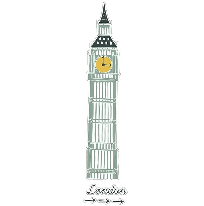 Adesivo de Parede Relógio de Londres