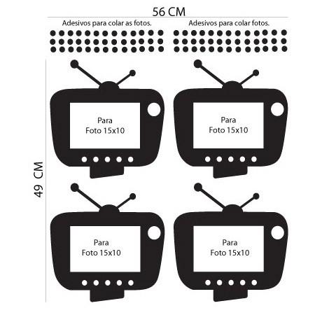 Adesivo de Parede Porta Retratos TV