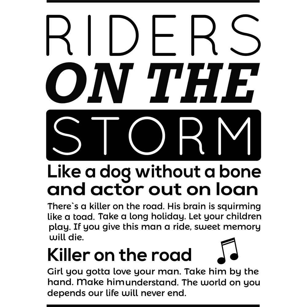 Adesivo de Parede Riders On the Storm