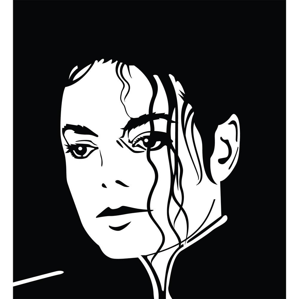 Adesivo de Parede Rosto Michael