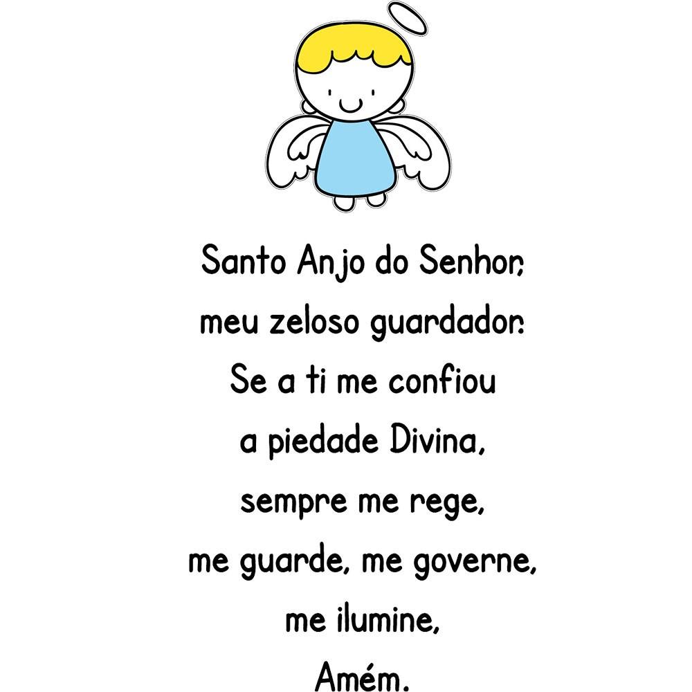 Adesivo de Parede Santo Anjo do Senhor...