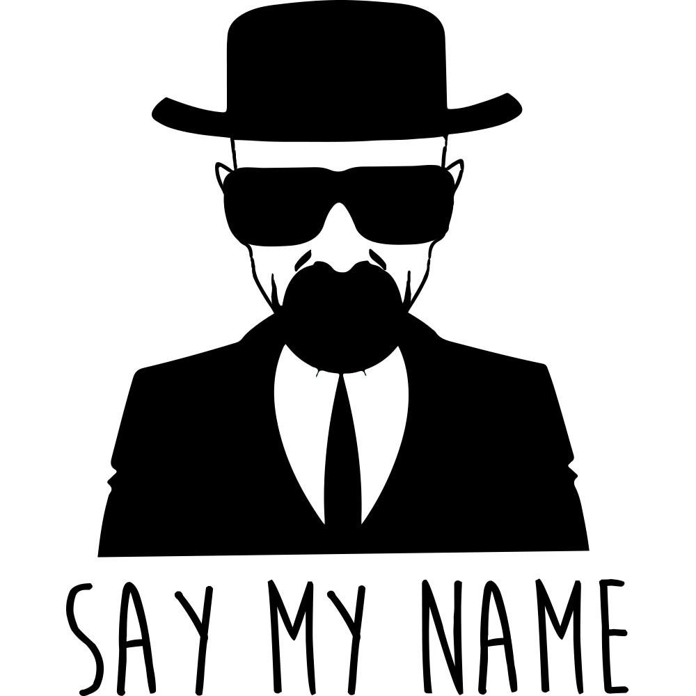 Adesivo de Parede Say My Name Breaking Bad