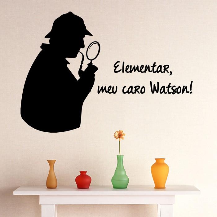 Adesivo de Parede Sherlock Holmes