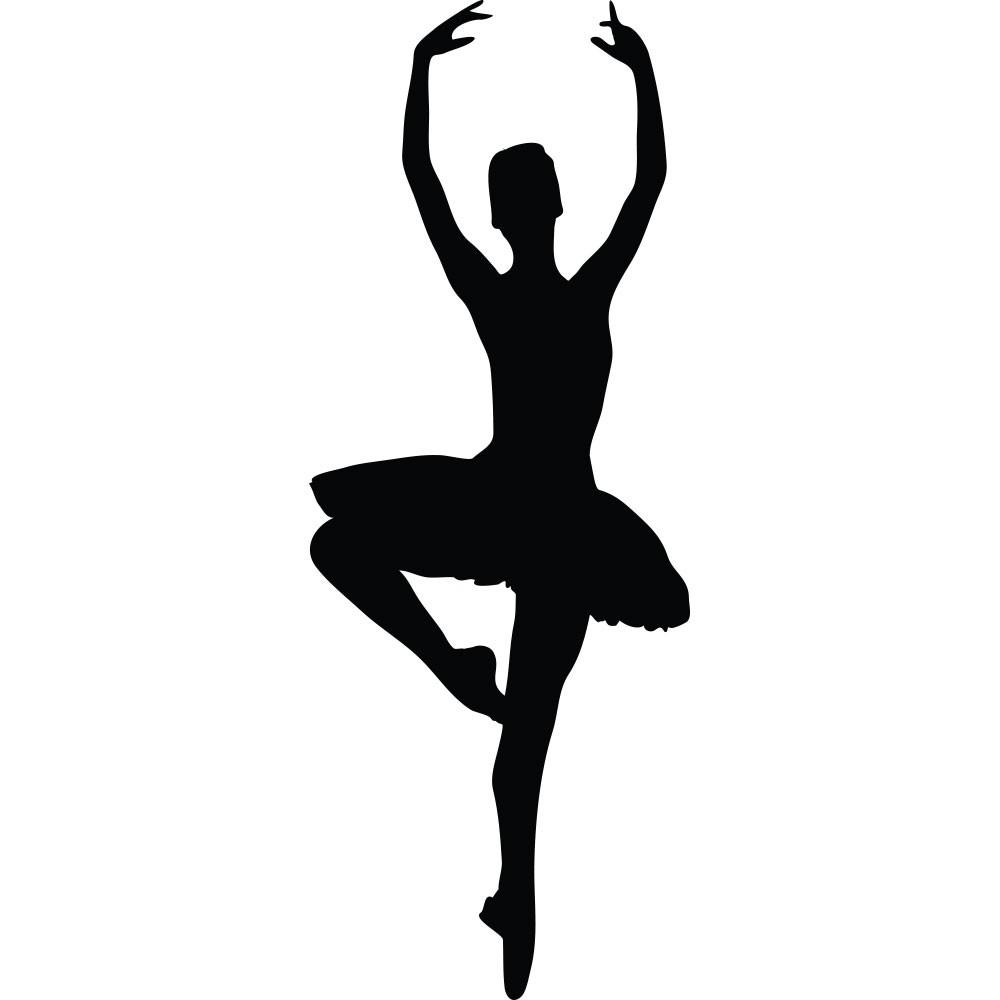 Adesivo de Parede Silhueta Bailarina
