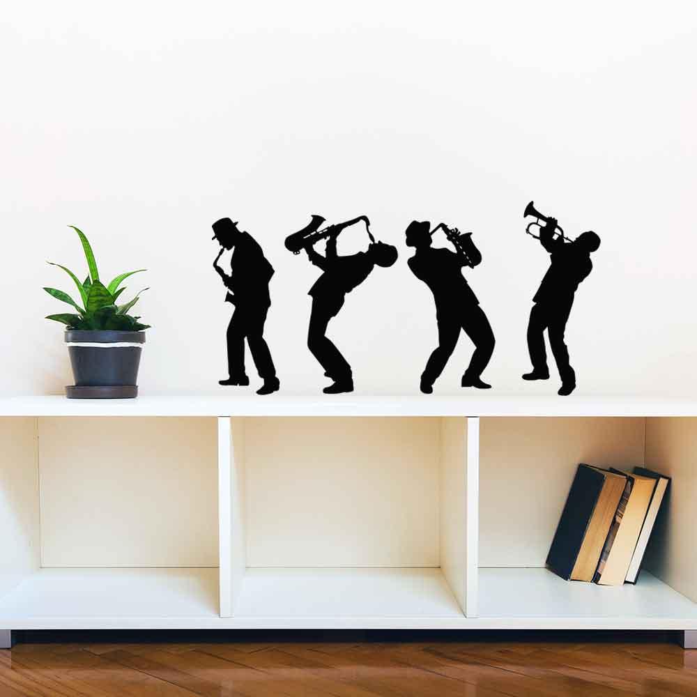 Adesivo de Parede Silhueta jazz