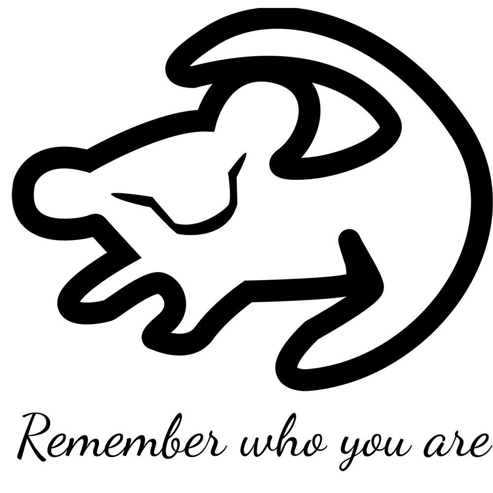 Adesivo de Parede Simba Remember Who You Are