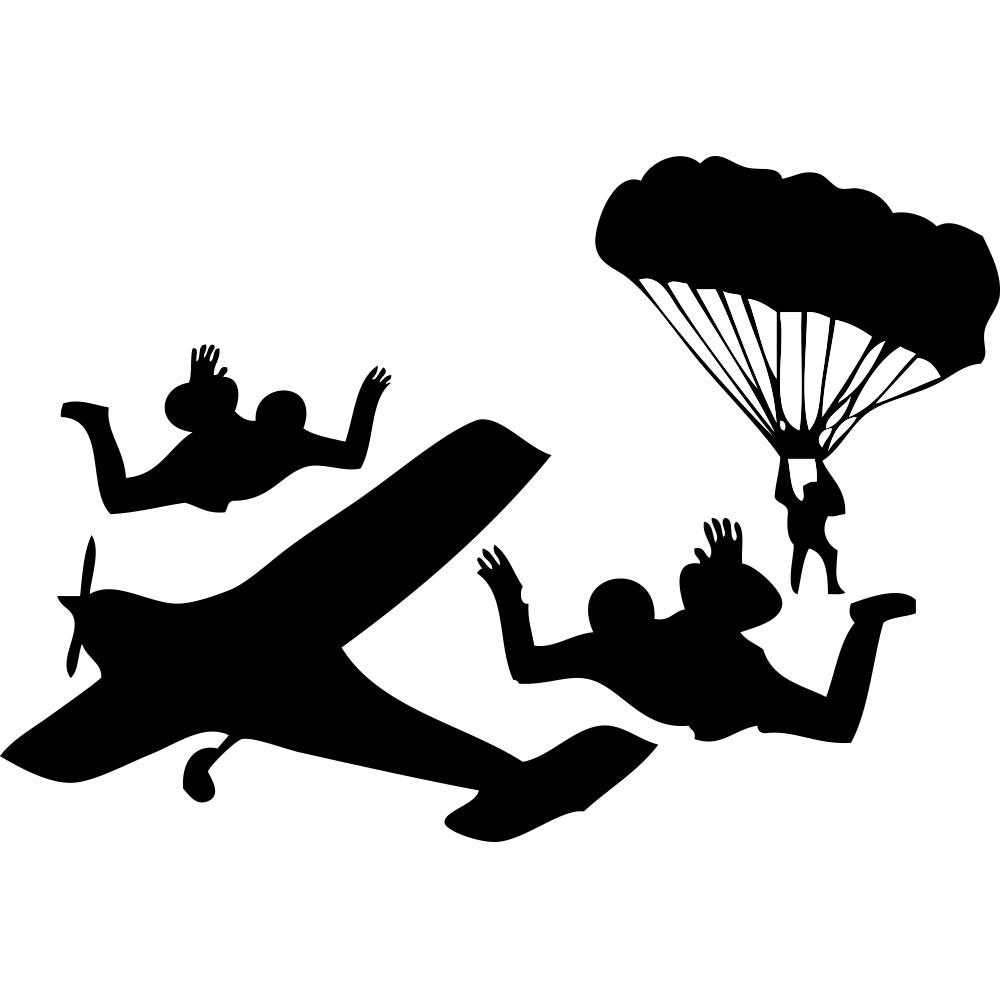 Adesivo de Parede Skydive