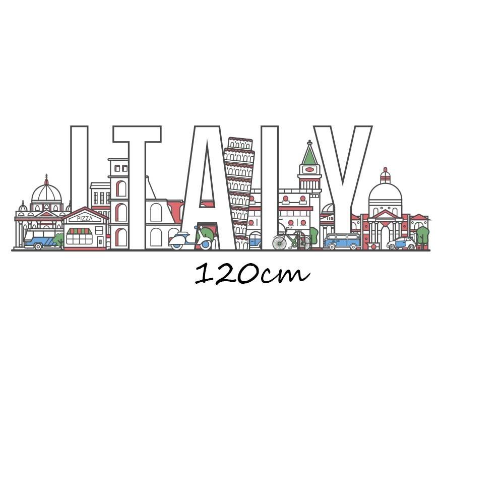 Adesivo de Parede Skyline Itália