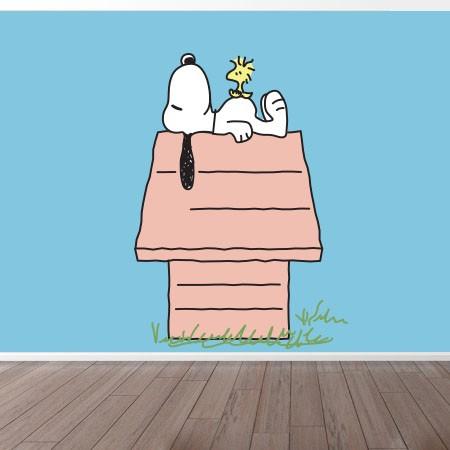 Adesivo de Parede Snoopy House Tom Pastel