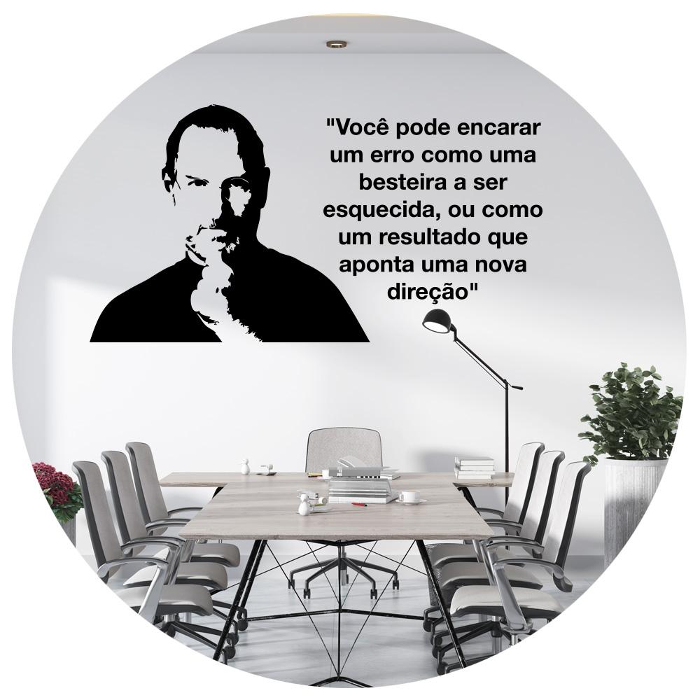 Adesivo de Parede Steve Jobs Frase