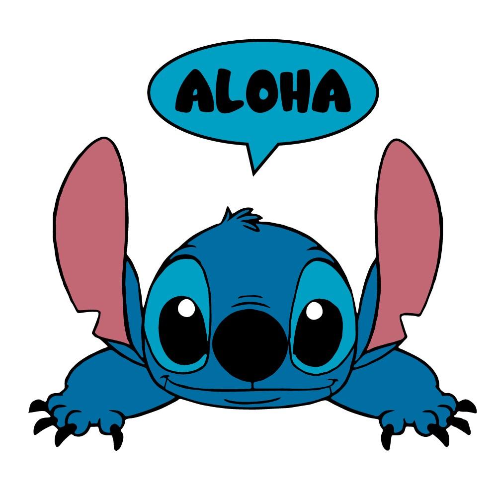 Adesivo de Parede Stitch Aloha Interruptor