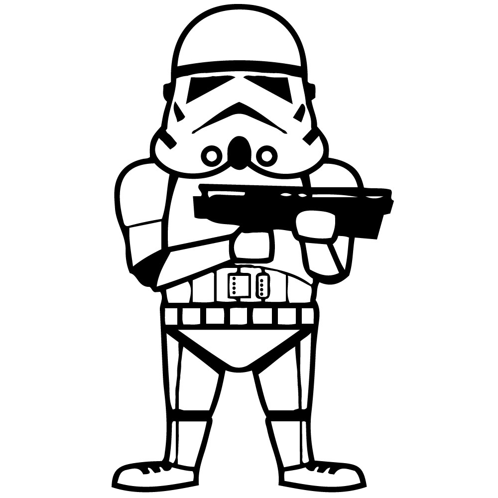 Adesivo de Parede Stormtrooper Star Wars
