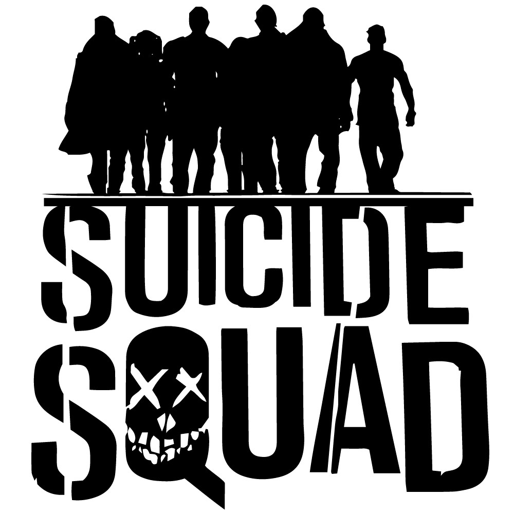 Adesivo de Parede Suicide Squad Sombras