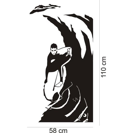 Adesivo de Parede Surf Tubo