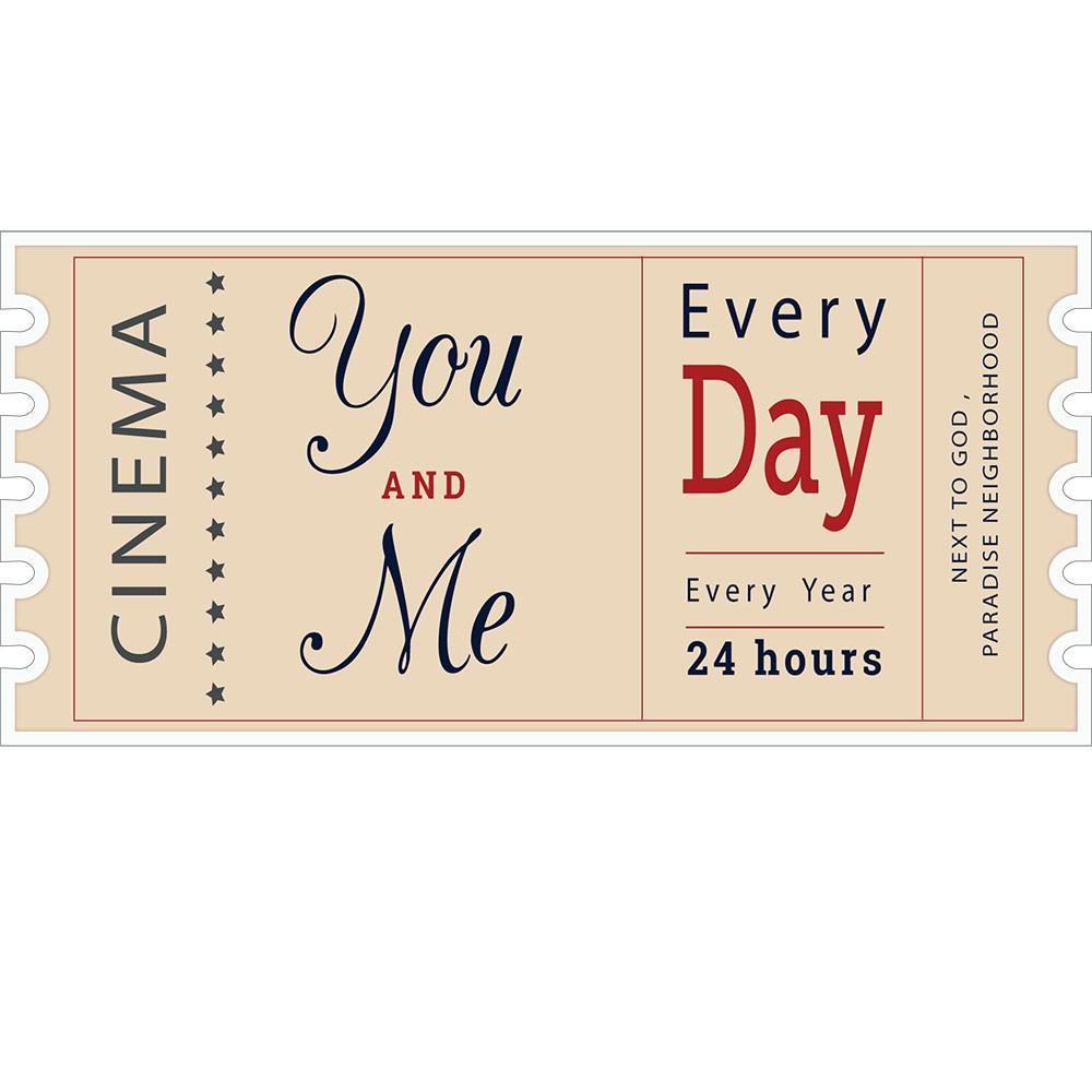 Adesivo de Parede Ticket Cinema You and Me