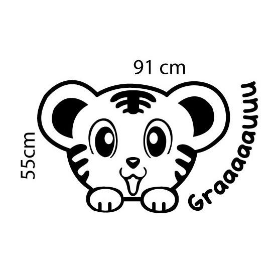 Adesivo de Parede Tigre Grauuu