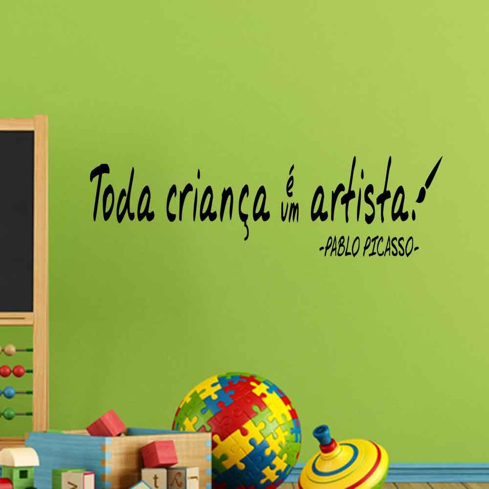 Adesivo de Parede Toda Criança é uma Artista.