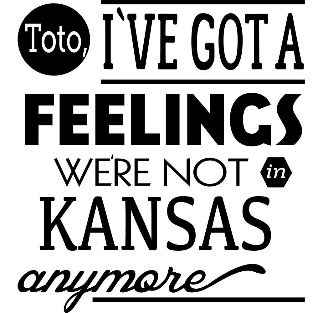 Adesivo de Parede Toto , Ive Got A Feelings