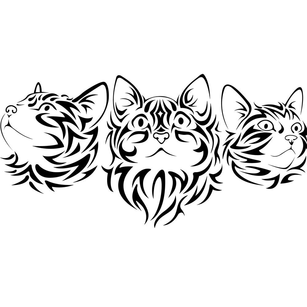 Adesivo de Parede  Tribal Cats