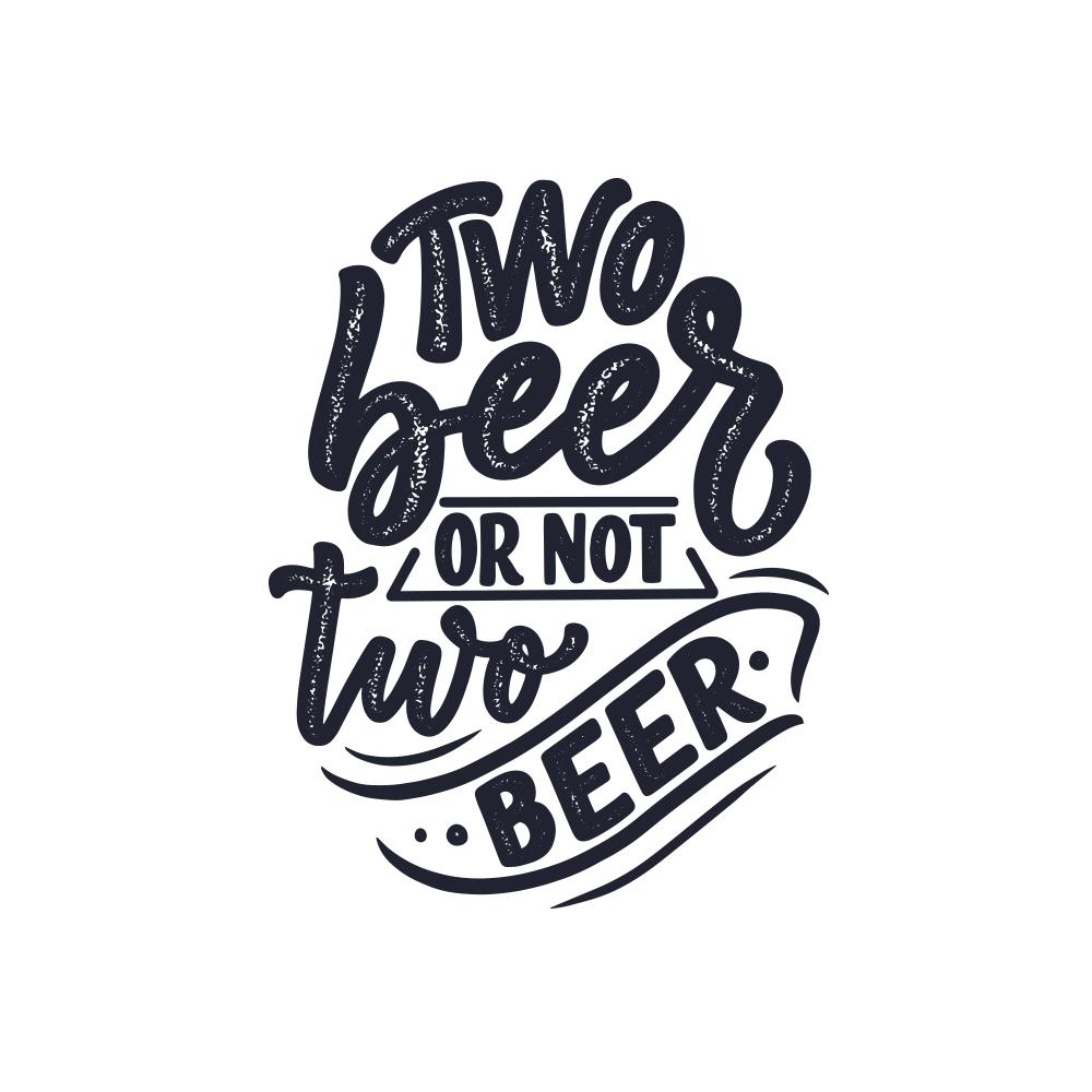Adesivo de Parede Two Beer or not Two beer