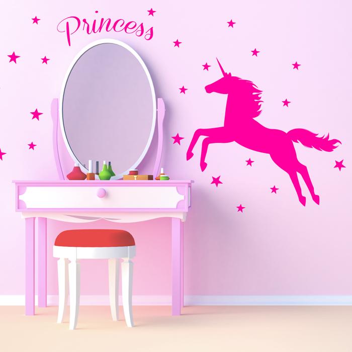 Adesivo de Parede Unicorn Princess