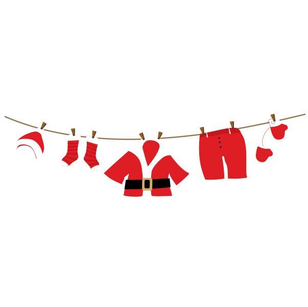 Adesivo de Parede Varal do Papai Noel