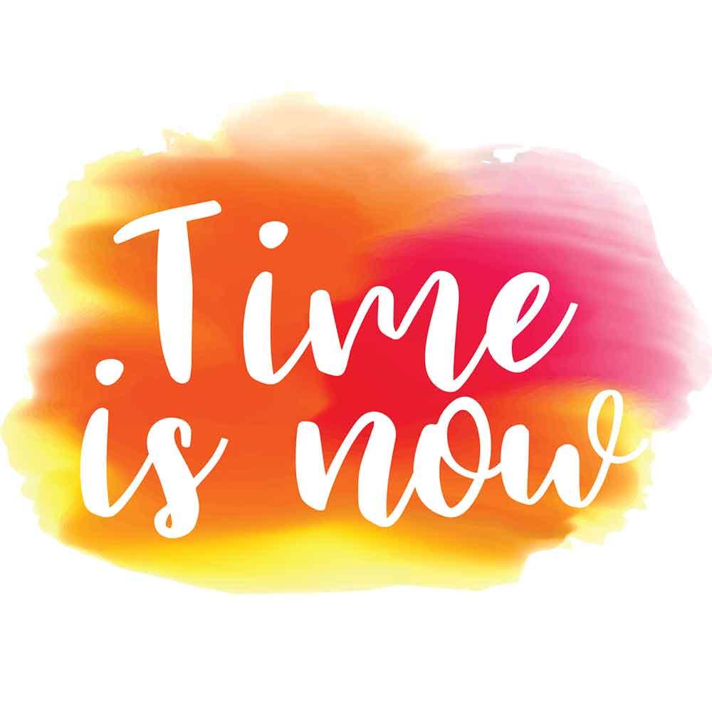Adesivo de Parede Watercolor Time is Now