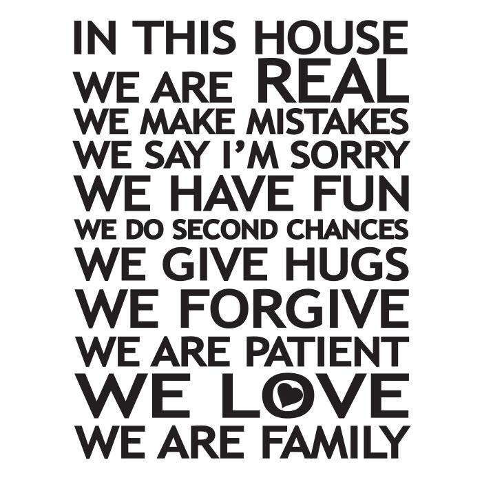 Adesivo de Parede We are Family