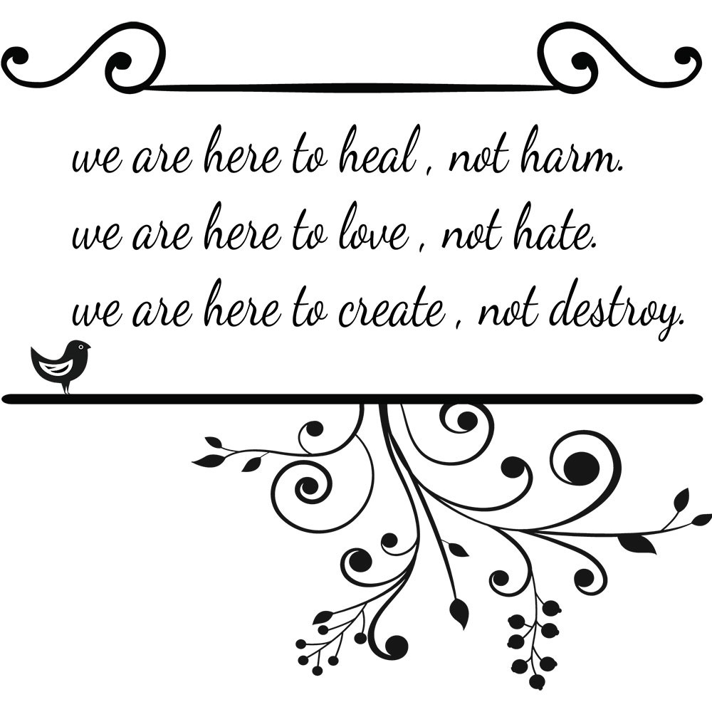 Adesivo de Parede We Are Here For Heal
