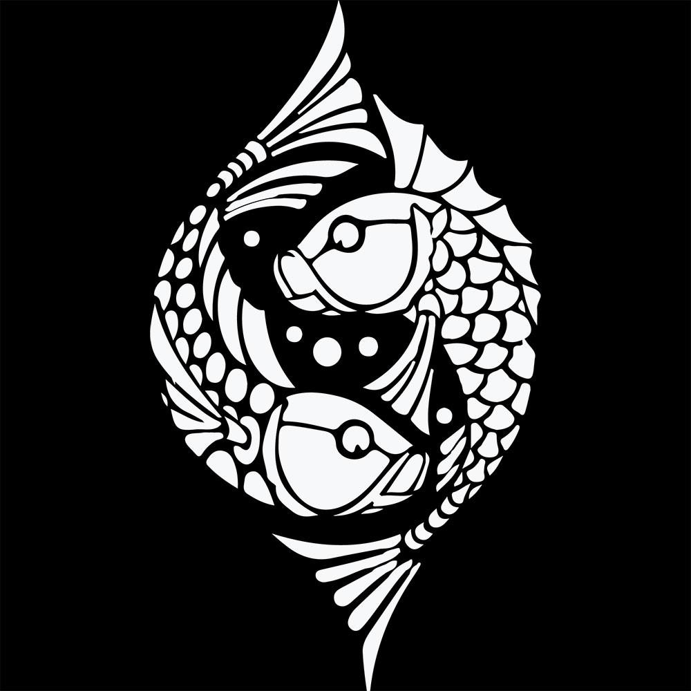 Adesivo de Parede White Fish