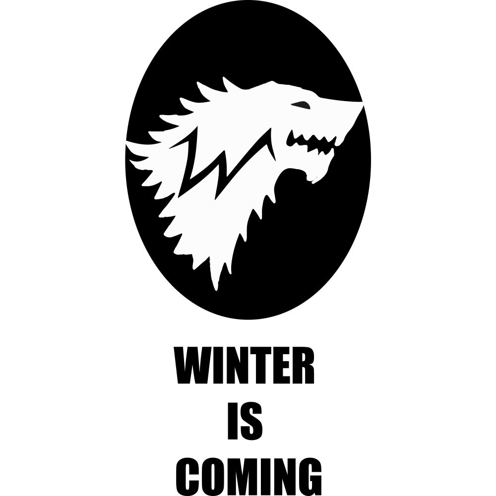 Adesivo de Parede Winter is Coming Stark