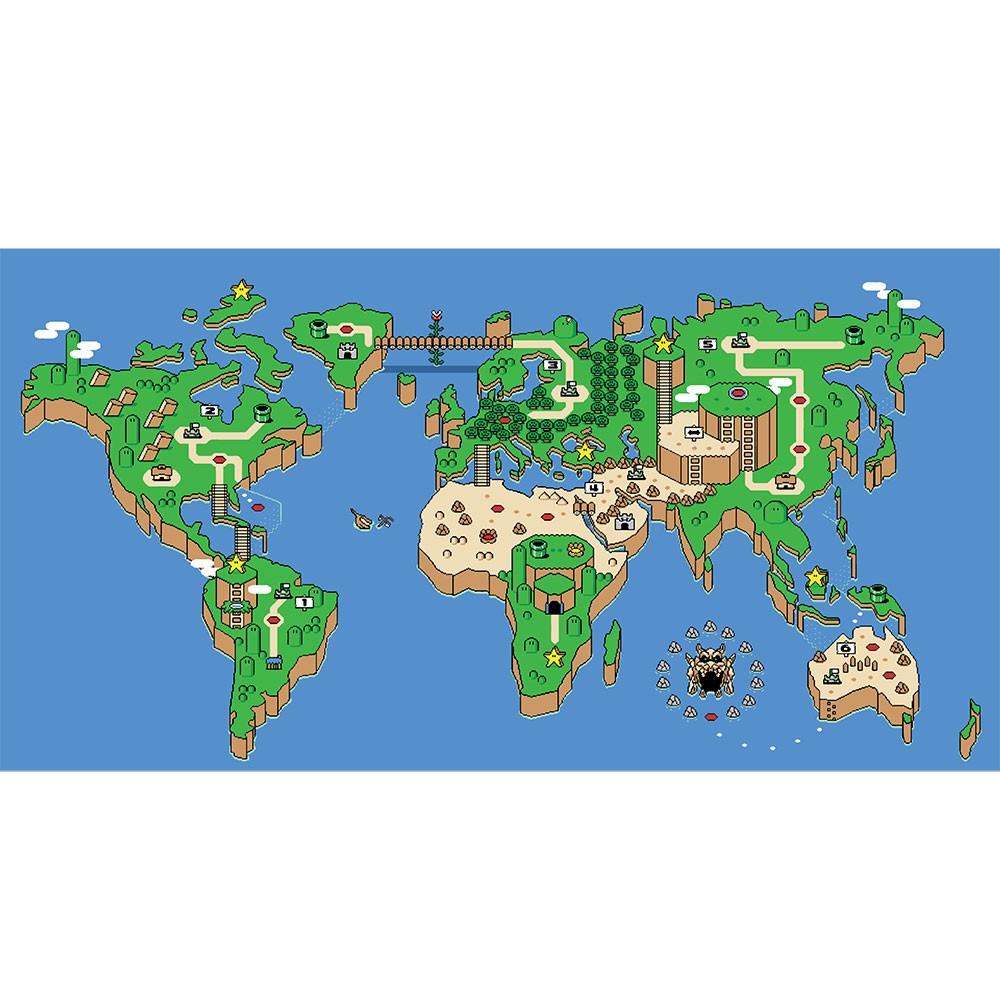 Adesivo de Parede Wordmap Mario Game