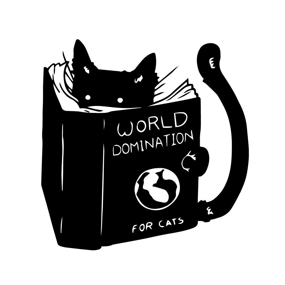 Adesivo de Parede World Domination For Cats