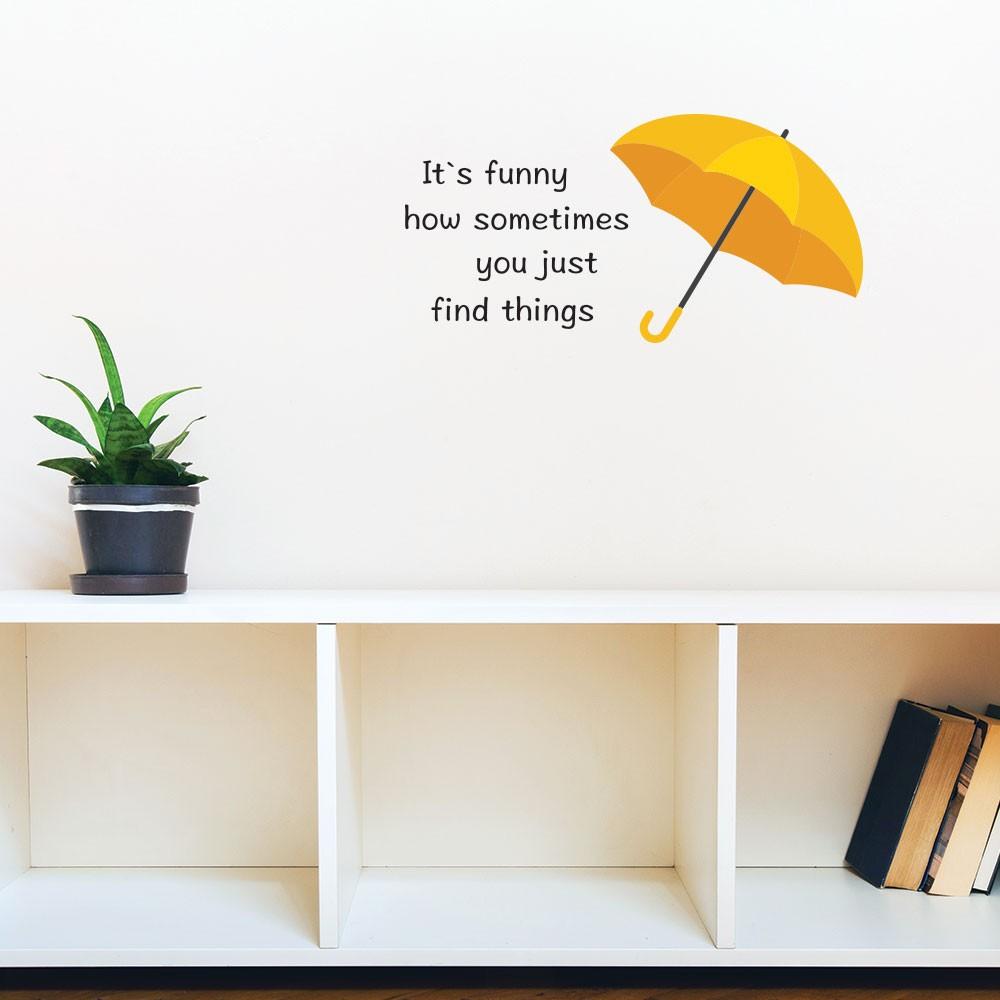 Adesivo de Parede Yellow Umbrella HIMYM