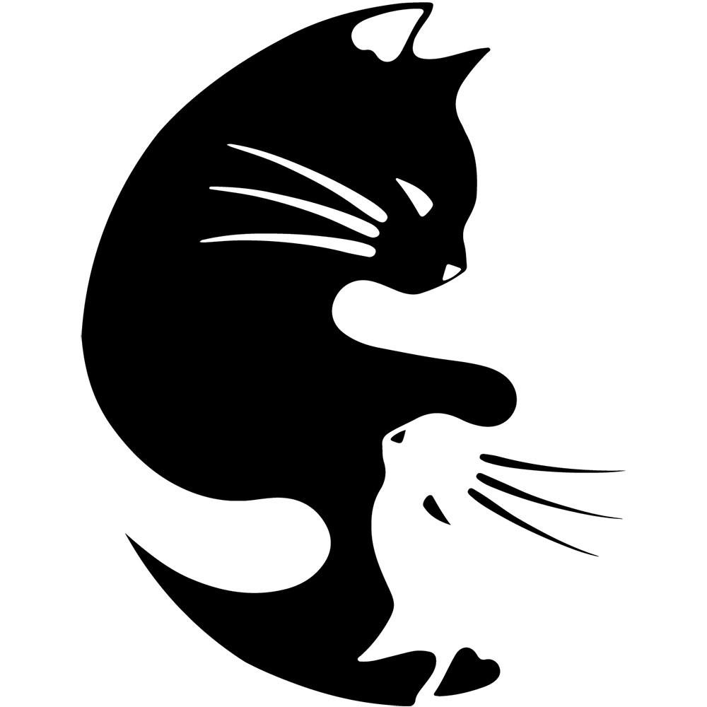 Adesivo de Parede Yin Yang Cat