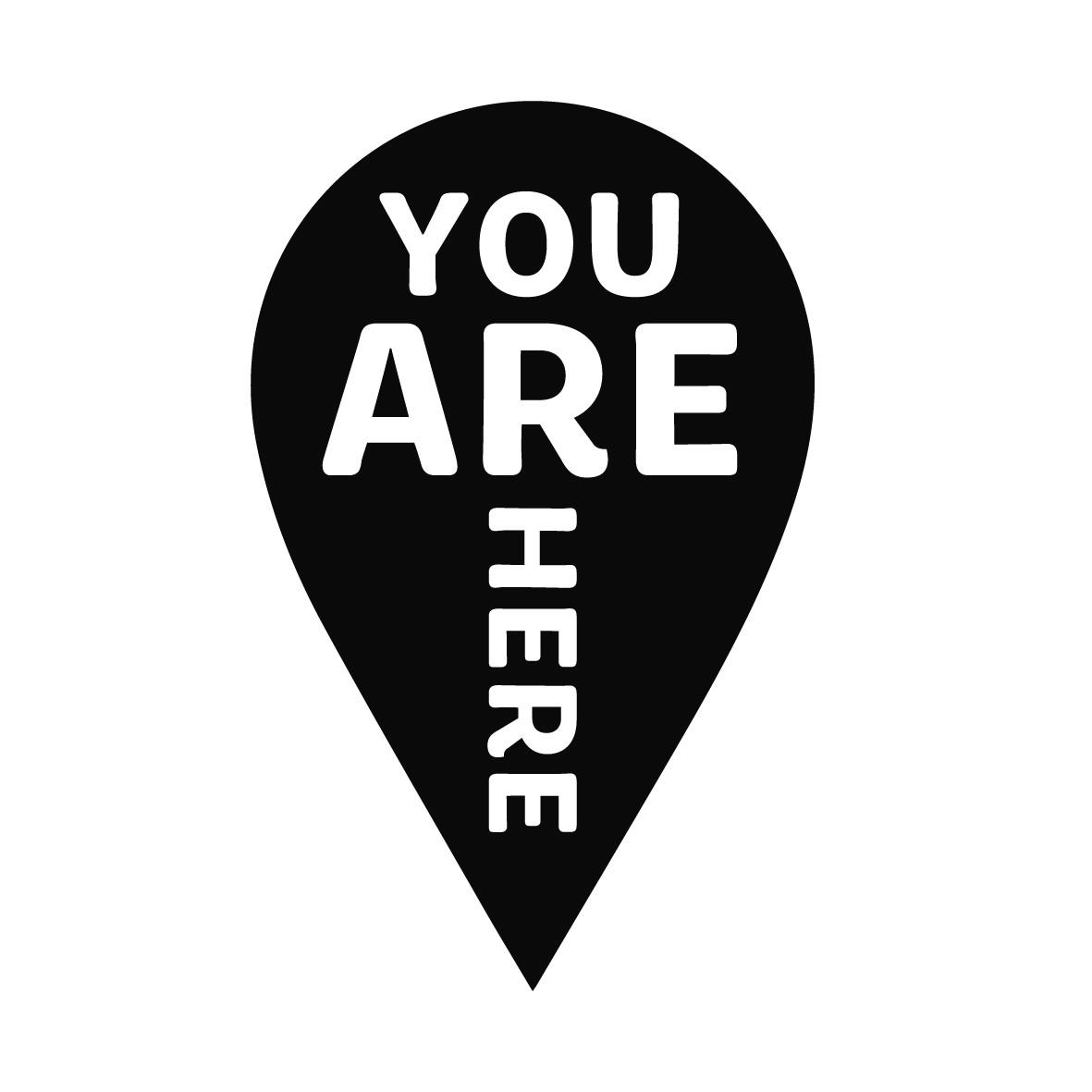 Adesivo de Parede You Are Here