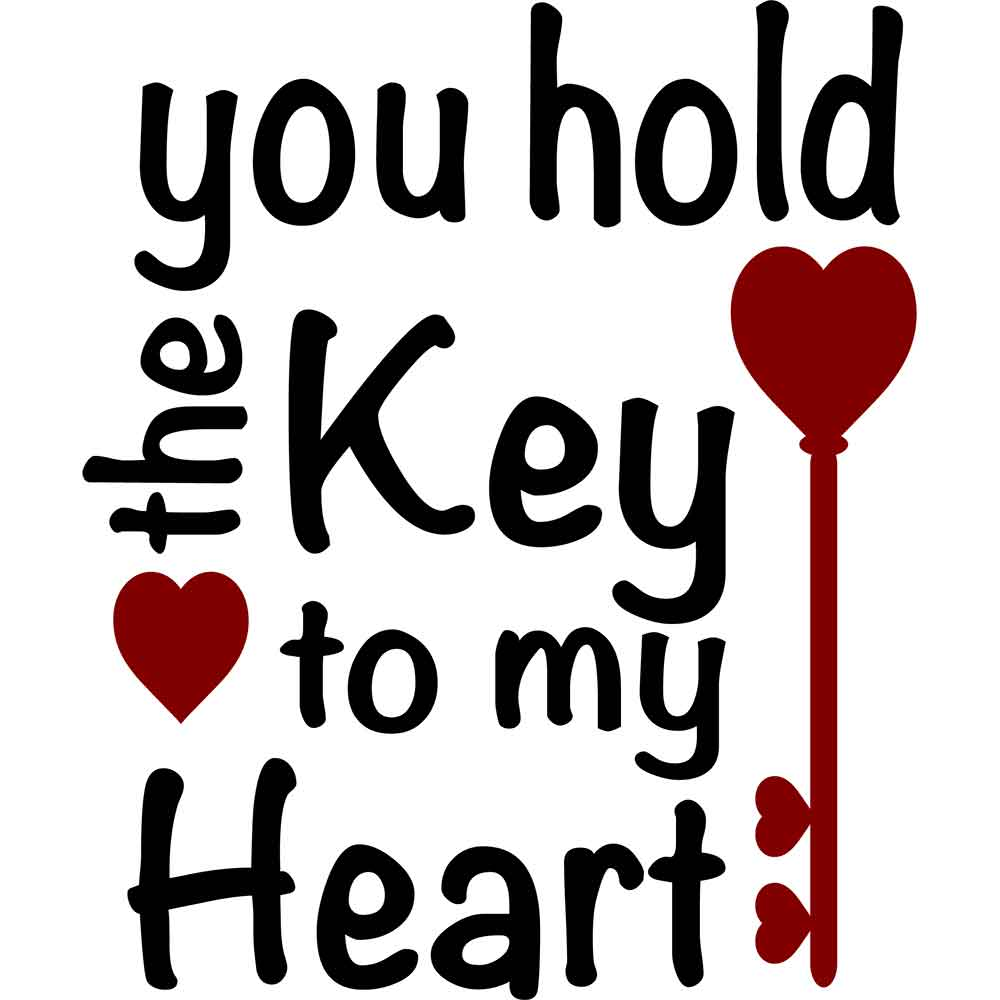 Adesivo de Parede You Hold the Key to my Heart