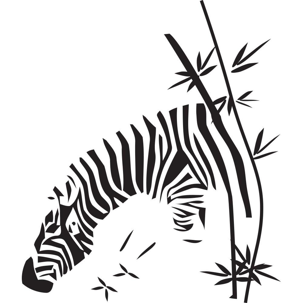 Adesivo de Parede Zebra Bamboo
