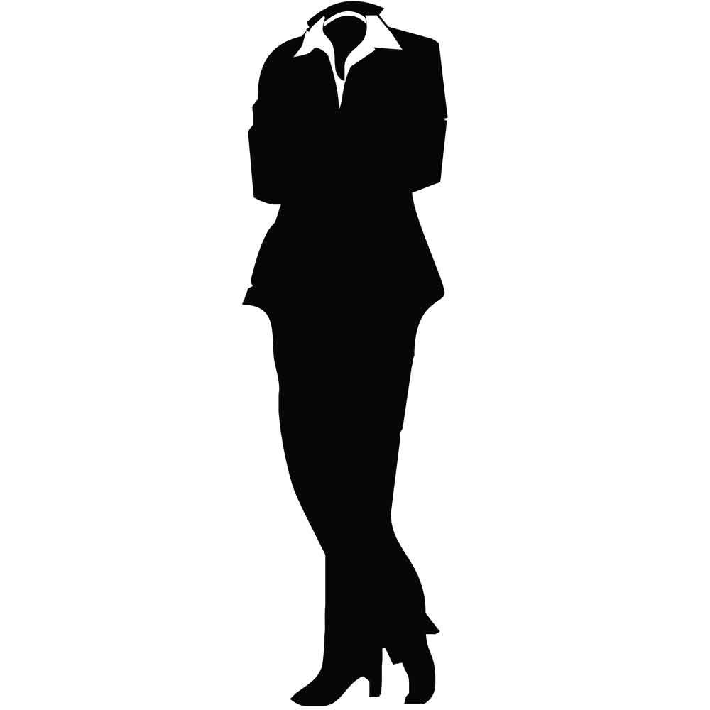 Adesivo de Porta Mulher Formal