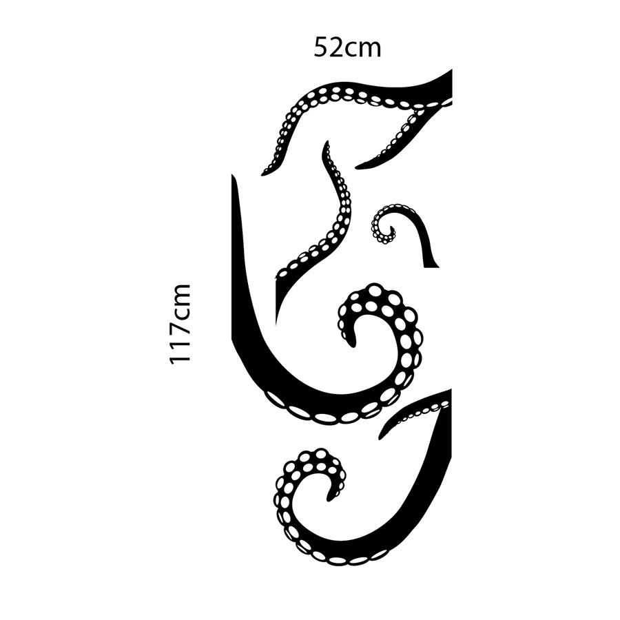 Adesivo de Porta Octopus