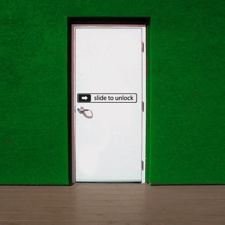 Adesivo de Porta Slide to unlock