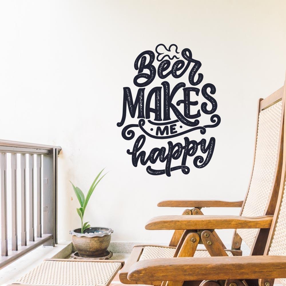Adesivo Decorativo Beer Makes me happy