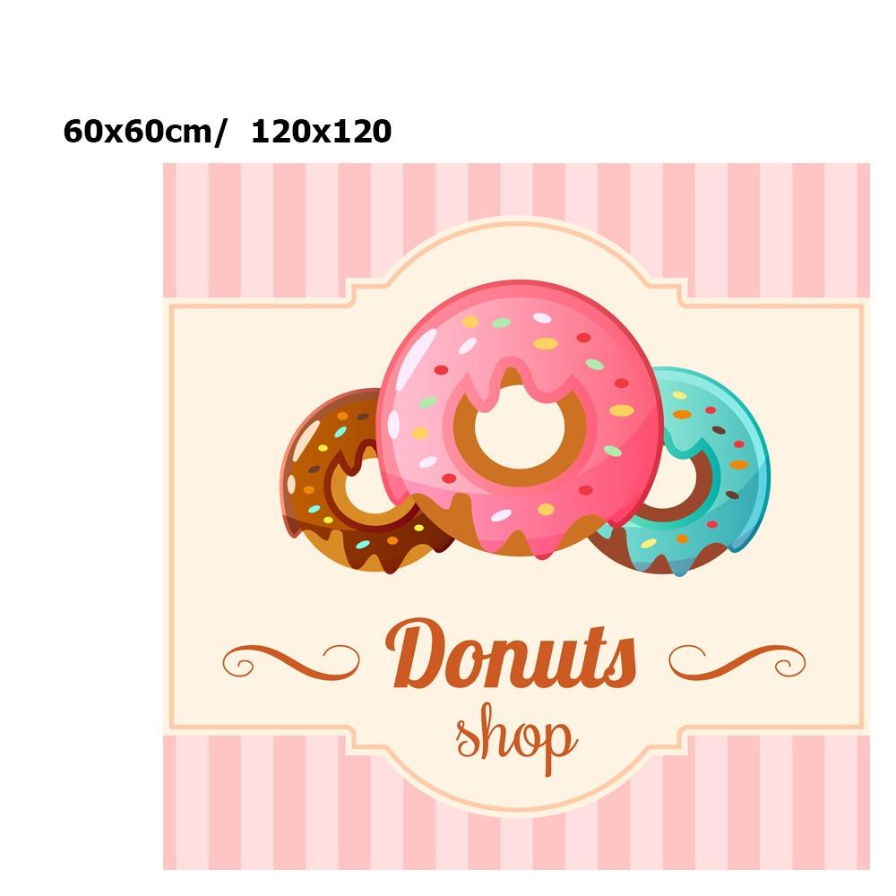 Adesivo Decorativo Confeitaria Painel Biscoitos Doce Cupcake